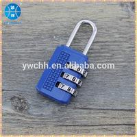 3-digit combination number padlock/3 codes combination lock