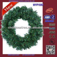 2014 Popualr PVC Common Green Bulk PVC Christmas Wreaths for Sale