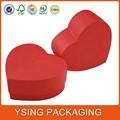 forma de coração de chocolate morango embalagem caixas de presente de papel fabricantes na china