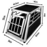 Alu Dog Car Cage Alu pet box Pet transport Cage SAU03