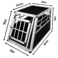 Alu Dog Car Cage Alu pet box Pet transport Cage SAU03