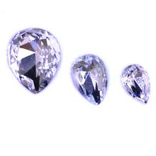 glass teardrop shaped beads, 13x18mm