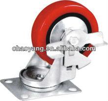 4 inch PU / Rubber / Nylon Caster swivel