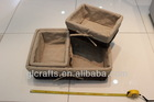 Food tray, Rushwork Frame sets, Rattan basket with lining