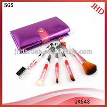 5pcs brushes plastic cosmetic brush set,plastic cosmetic brushes