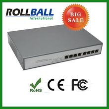 high quality 10/100/1000M 8 port gigabit poe switch