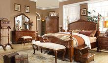 wooden furniture modern bedroom set dark brown