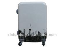 2014 fashionable print PC shining film trolley pc luggage