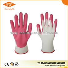 Coated Glove 13G Nylon/Polyester Liner, Foam Nitrile Palm Coated Glove, Foam Surface Glove