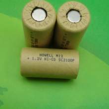 SC2100mAh NiCD battery with paper coat/1.2V power tools use nicd sc battery