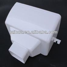 5.2 inch single gutter drop outlet white PVC
