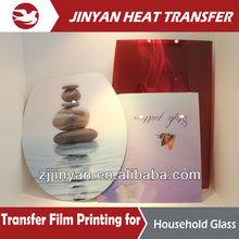2014 ultimo stampa progettazione di calore pellicola di trasferimento per il vetro