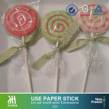 Bulk white smooth incision paper stick,cakepop lollipop candy sticks