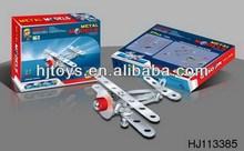 Children Promotional Toys DIY Intelligent Metal Toys Plane Alloy Toys 27PCS