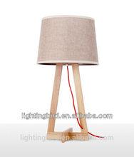 2015 Lightingbird wood table lamp with low profile
