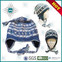 With polar fleece and braid adult crochet earflap hat