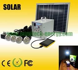 solar lighting system 10w (home light, usb mobile charging, led bulb)