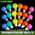 Impermeabile led decorativi lampadine a colori g45 0.5w e27& b22