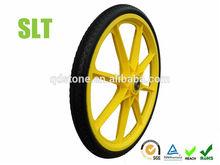 20 inch solid polyurethane garden cart wheel