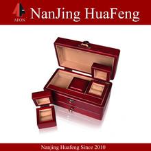 New custom mini wooden treasure chest jewelry box