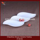 Ceramic wholesale food divided dinner plate