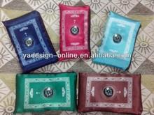 MA003 Travel muslim with compass pocket size protable prayer mat Satin Prayer Mat