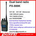 Amador dual band rádio px888k espera dupla u/v duplex cruz banda repetidor 1600 mah