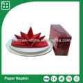 de lujo de pre plegadas estrellas de la boda cena servilletas partido servilletas de color rojo