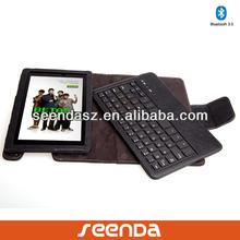Portfolio leather case for kindle fire,russian bluetooth keyboard custom