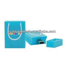 promotional gift PVC Shopping Bag USB flash drive with customized logo