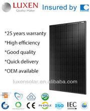 255w mono pv solar panel ALL BLACK