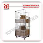 Insulated metal steel wire mesh cargo storage roll container (L710*W805 mm/OEM)