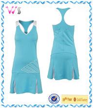 Caliente venta de secado rápido brillante para mujer tenis vestidos vestido largo