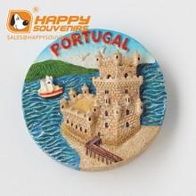 poly resin portugal souvenir fridge magnet | custom resin souvenir magnet