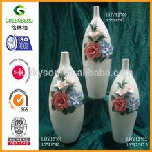 High ceramic art vase for home decoration