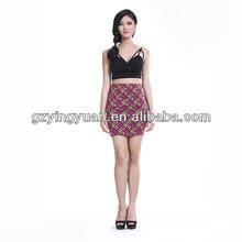 2015 Womens Girl Lady Floral Summer Short stretch Skirt
