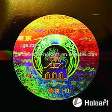 Professional custom 3d hologram tamper evident sticker,holographic 3D tamper evident sticker 3D tamper evident label