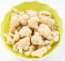 Grade A / B frozen cauliflower florets, White broccoli for export