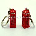 Llavero con forma de típica cabina de teléfonos de Londres