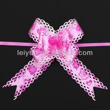 Rose Red Mahogany hand-shaped pattern decorative openwork lace flowers gift wrap garland wedding decoration wedding car decorati