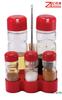 spice bottle glass olive oil and vinegar bottles with plastic rack
