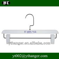 FP-611 White plastic pants hangers rubber coated pants hangers
