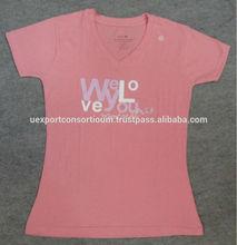 High Quality Cotton Printed Tshirt for Womens