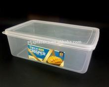rectangular plastic clear box for storage