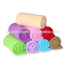 100% polyester Custom design Polar fleece blanket & polar fleece throw blanket
