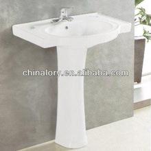 Explosion Models Cheap Price Two Piece Bathroom Ceramic Wash Hand Pedestal Sink
