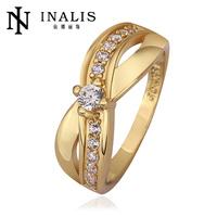 2014 SGS Certified Handmade 18k Gold Plating Wholesale Zircon Stone Ring