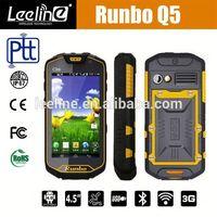 Original Runbo Q5 IP67 Waterproof Walkie Talkie Smart phone android,haier w910 waterproof android nfc phone