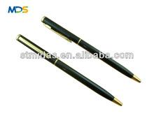slim ballpoint pen, promotional hotel pen, thin metal ball pen MDS-B2047