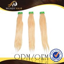 Grade AAAAA Virgin Remy Blonde Straight Brazilian Hair Free Samples Human Hair Weaving